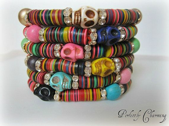Friendship Bracelet TRIBAL SKULL African Recycled by pcjewelry, #shopumbabox #handmade