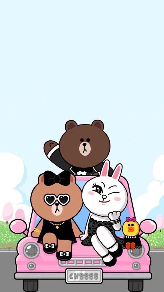 Line Friends 배경화면 모음 네이버 블로그 Gambar Lucu Kartun Kertas Dinding