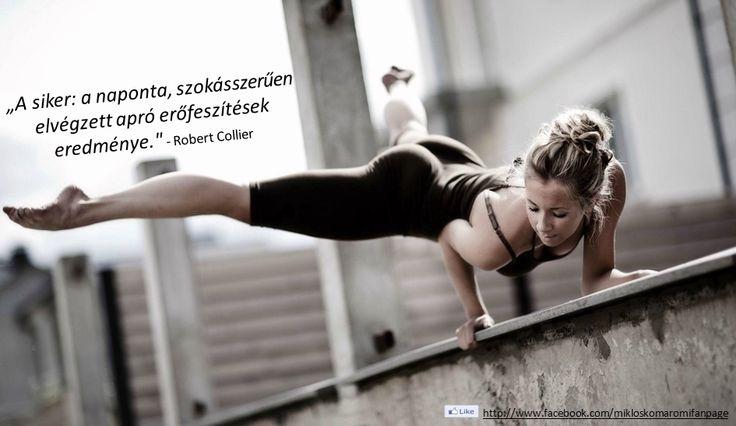 Robert Collier idézet a sikerről. A kép forrása: Komáromi Miklós - The Page