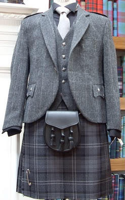 Grey suit looks very impressive.... http://scottishkiltshop.com/en/