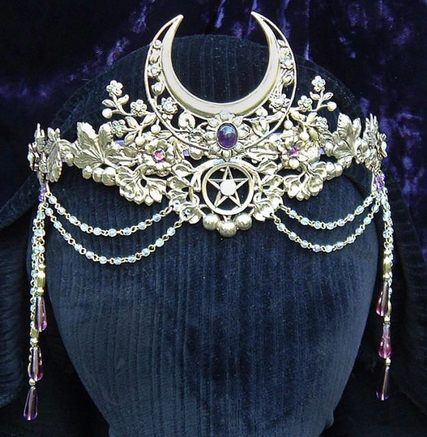 Priestess's crown, while this is absolutely gorgeous, my crown, a gift from a coven daughter, is so very precious to me