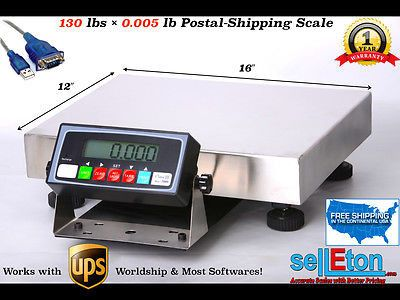 Multi-Purpose Shipping & Postal Scale l 130 lbs x .005 lb l FedEx/ UPS Software