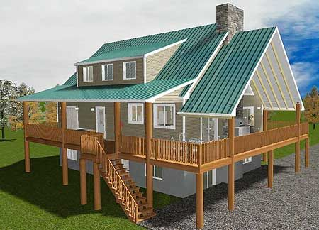 Plan 61269ut Vacation Home With Wrap Around Porch Lake