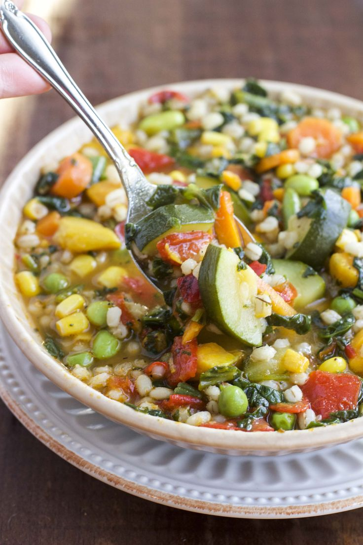 30 minute garden veggie soup is so healthy and easy to prepare!
