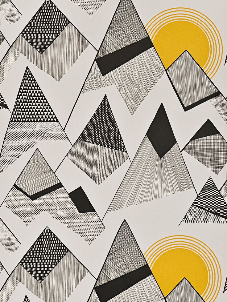 Missprint Mountains Wallpaper, Grey Misp1233 Mountain