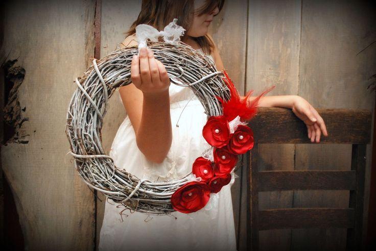 {Rustic / Vintage / Beautiful} Holiday Decor + Elegant Woodland Holiday Wreath by Lunatique Boutique + Vintage Wood Type HO HO HO by Mo...