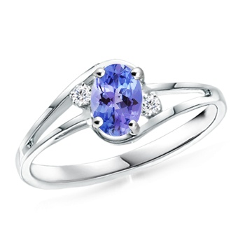 Angara Tanzanite Cocktail Engagement Ring in Yellow Gold dH495q