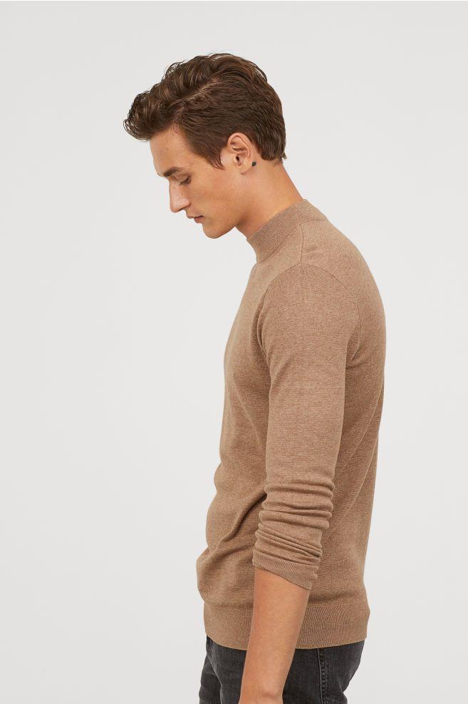4210c4d45 H&M Mock Turtleneck Sweater - Gray in 2019 | Wearables | Turtle neck ...