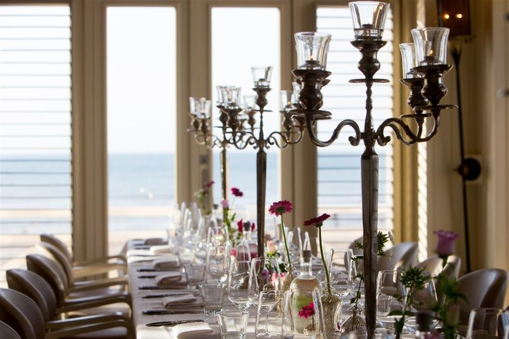 Wedding dinner styling at a Beachclub in Noordwijk