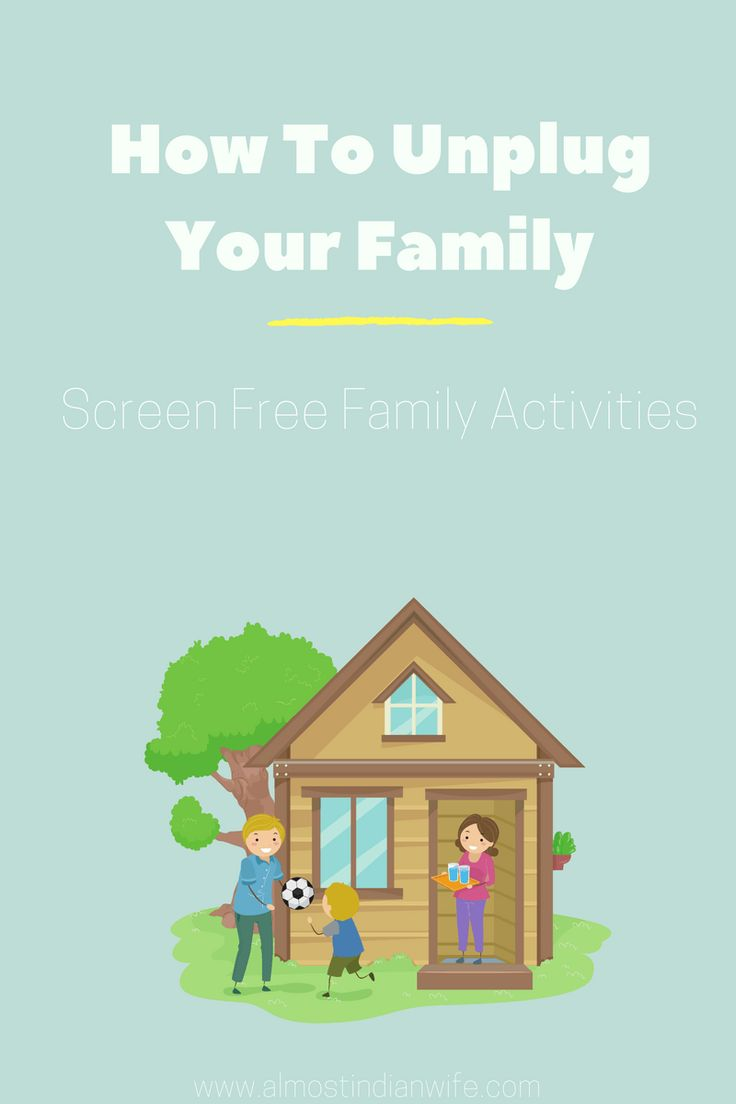 How To Unplug Your Family. Here is a great list of screen free activities for your family!