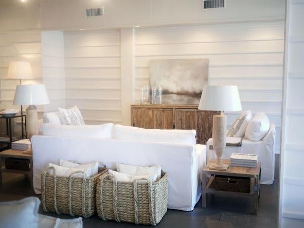 beachy | neutral {love the baskets for pillows}
