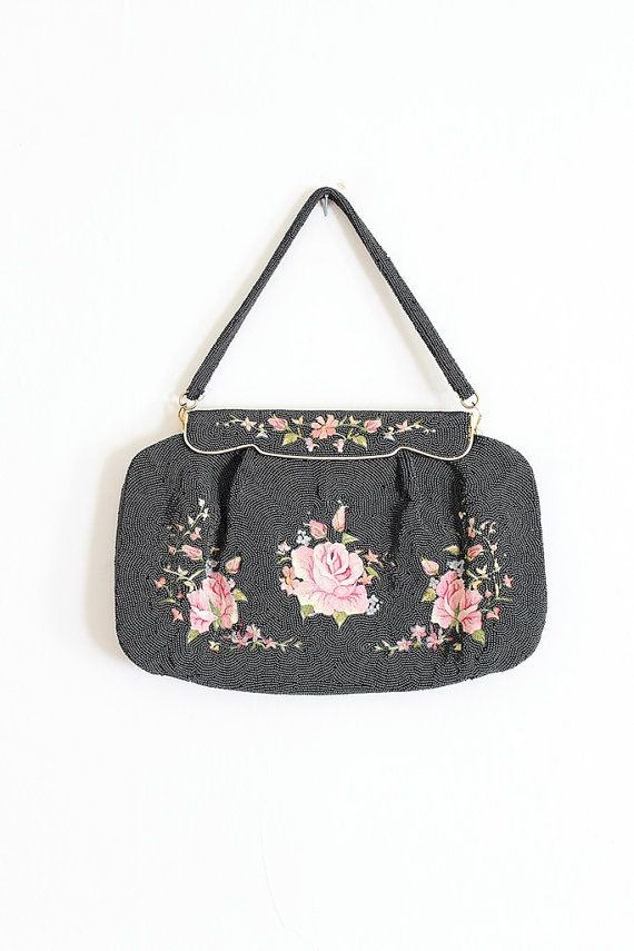Vintage 1930s RARE French beaded purse! by Trunk of Dresses