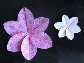 287 best paper flowers images on pinterest fabric flowers paper simply paper easy folded flower tutorial with a little curl i bet this could look like a plumeria mightylinksfo Choice Image