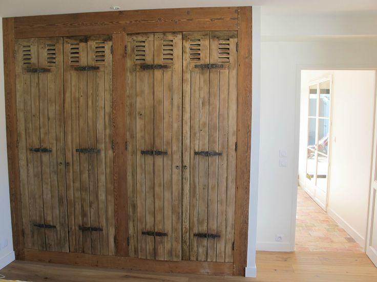 fa ade placard persiennes anciennes d cap es id es pour la maison pinterest persiennes. Black Bedroom Furniture Sets. Home Design Ideas