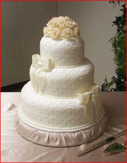 Elegant+Wedding+Cakes | Elegant wedding cake with quilted
