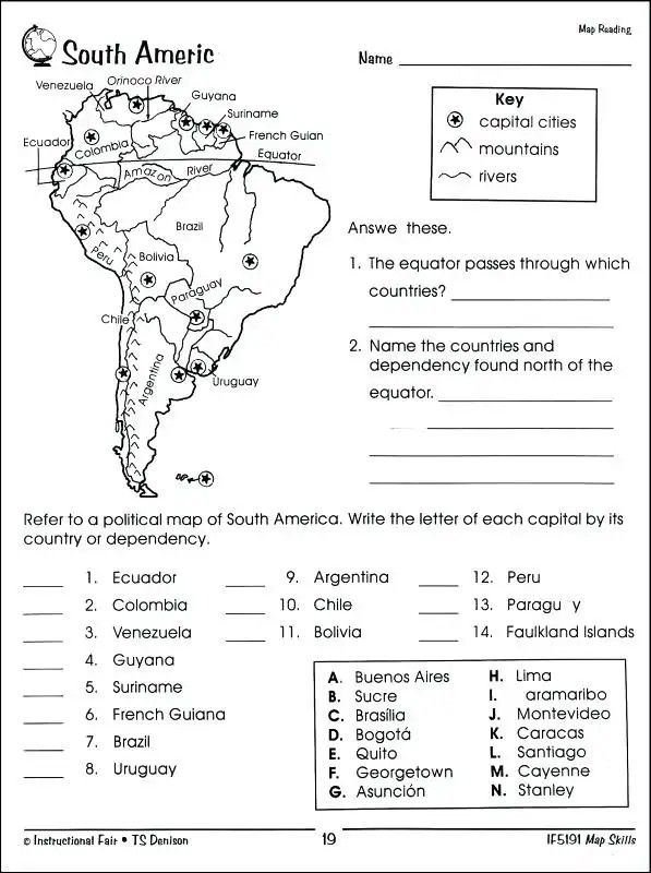 pin by diana kuerth on middle school map skills map worksheets south america map. Black Bedroom Furniture Sets. Home Design Ideas