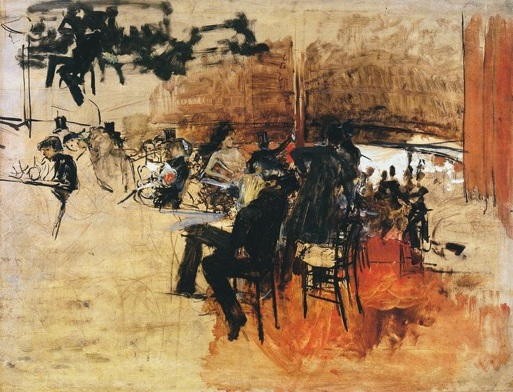 Cafe Scene (Study for `The Red Cafe`), 1887. Giovanni Boldini