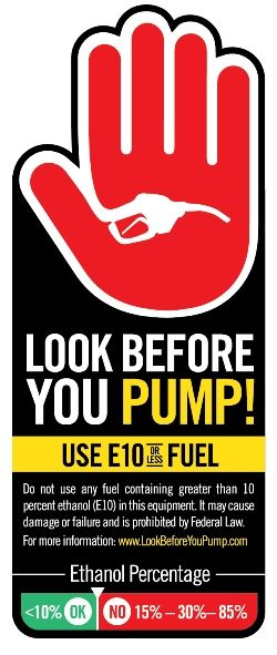 "As you get mowers, trimmers, blowers, chain saws, and similar small engine equipment fueled up, the Outdoor Power Equipment Institute (OPEI) reminds you to Look Before You Pump. This caution comes because at some gas stations, consumers can dispense fuel with higher than 10 percent ethanol. If this higher-ethanol fuel is put into any outdoor or garden power equipment or other non-road product, such as boats, snowmobiles, and motorcycles (with the exception of ""flex-fuel"" engine products)…"