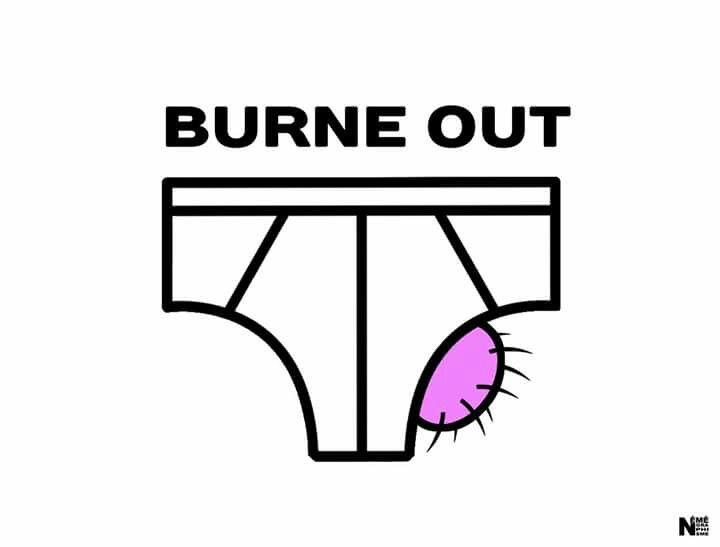 image drole burn out