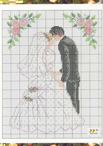 The bride and groom - #wedding #crosstitch pattern