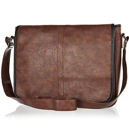 Brown mottled flap over messenger bag £25.00