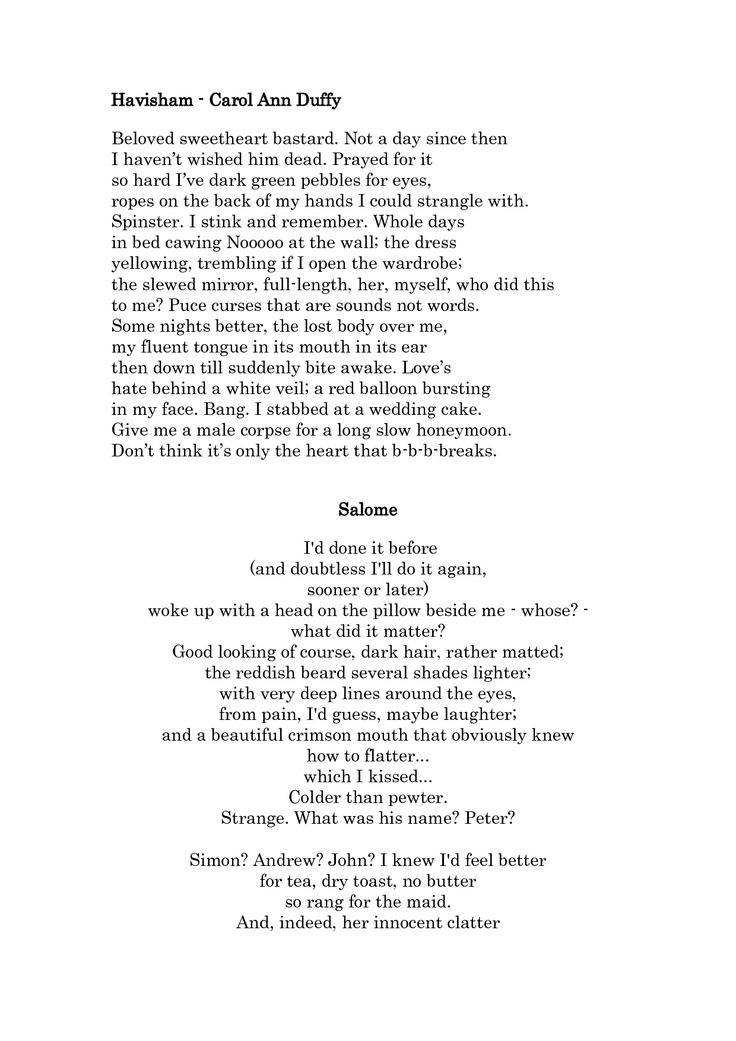 carol ann duffy litany Start studying carol ann duffy - mean time - themes & links (incomplete) learn vocabulary, terms, and more with flashcards, games, and other study tools.
