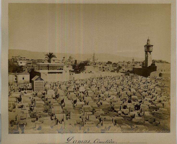 Bonfils. Syrie, Damas, Cimetière     #Orient #Proche_Orient_Near_East