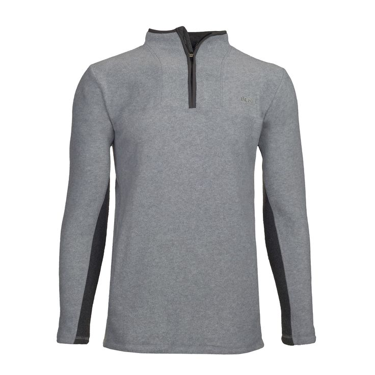 Half zip polar sweater in a simple and sober design, for a versatile use.
