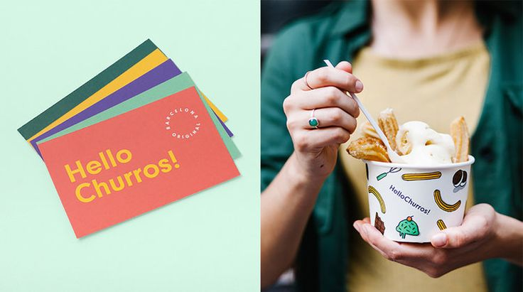 "Appart_ designed the bold branding and packaging for HelloChurros!, a new churro cafe in Bangkok, Thailand. ""HelloChurros! exports this typical Spanish snack to Thailand's capital, Bangkok. With two stores currently open, you can find this delicious and sweet food in a new and exotic l"