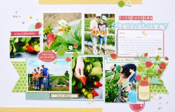#papercraft #scrapbook #layout.  ...Our Little Family...: Jillibean Soup | Strawberry...