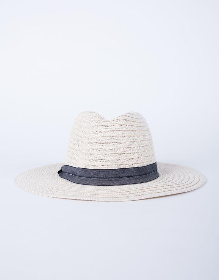 Sunny Days Straw Hat - Ribbon Straw Hat - Straw Fedora Hat – 2020AVE