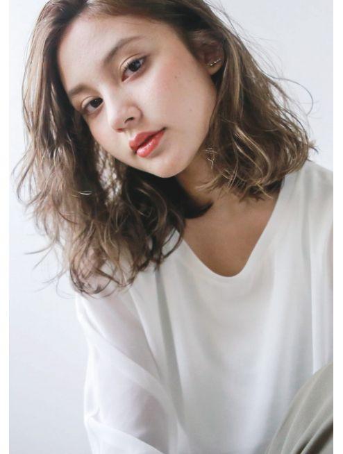 ヘア デザイン ヴェルダ(hair design Verda) 【VERDA】 外国人風無造作カット×ブルージュ×束感ロブ