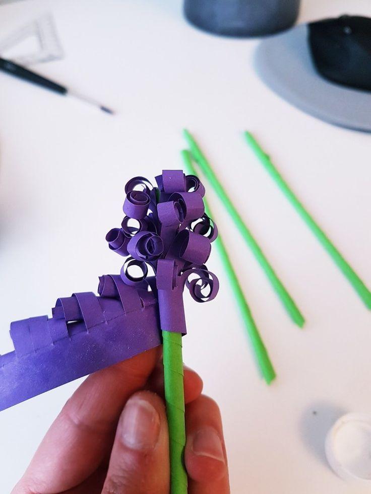 Anleitung Hyazinthen Blüte basteln