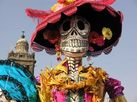 Day of the Dead is particularly celebrated in Mexico where it is known as a National Holiday, and all banks are closed. The celebration takes place on November 1 and 2. This is connected to the Catholic holidays of All Saints Day on November 1st and All Soul's Day on November 2nd.
