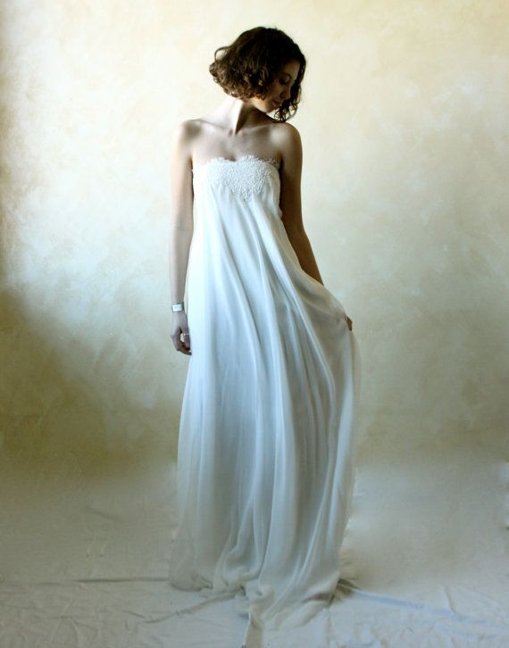 Wedding Dress Wedding gown Empire wedding dress column by LoreTree