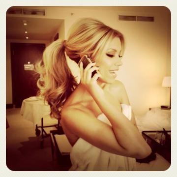 Barbie ponytail oh my gosh!!