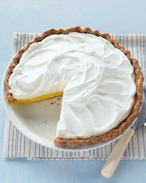 Lemon Cream Pie: Desserts, Cream Pies Recipes, Sour Cream, Marthastewart, Pies Crusts, Food, Lemon Cream Pies, Martha Stewart, Whipped Cream