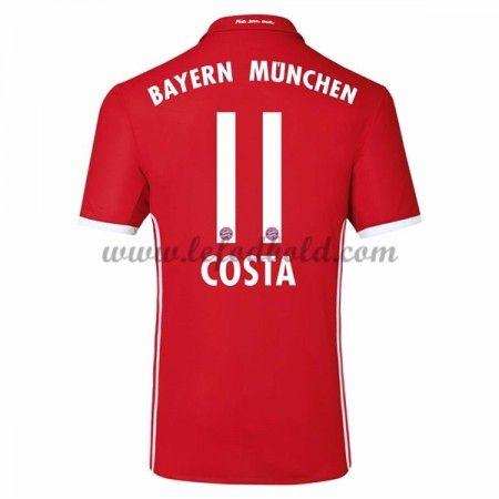 Billige Fodboldtrøjer Bayern Munich 2016-17 Costa 11 Kortærmet Hjemmebanetrøje