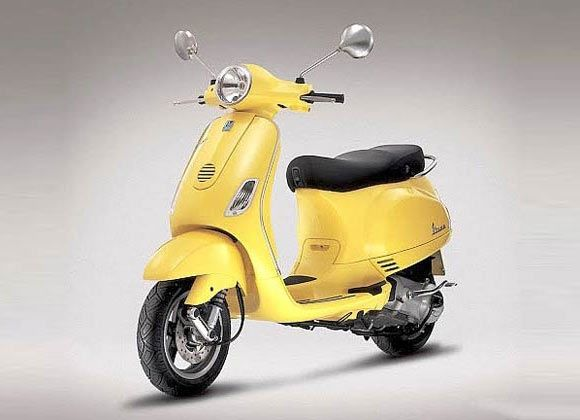 My Vespa is yellow, too. But nicer than this one.