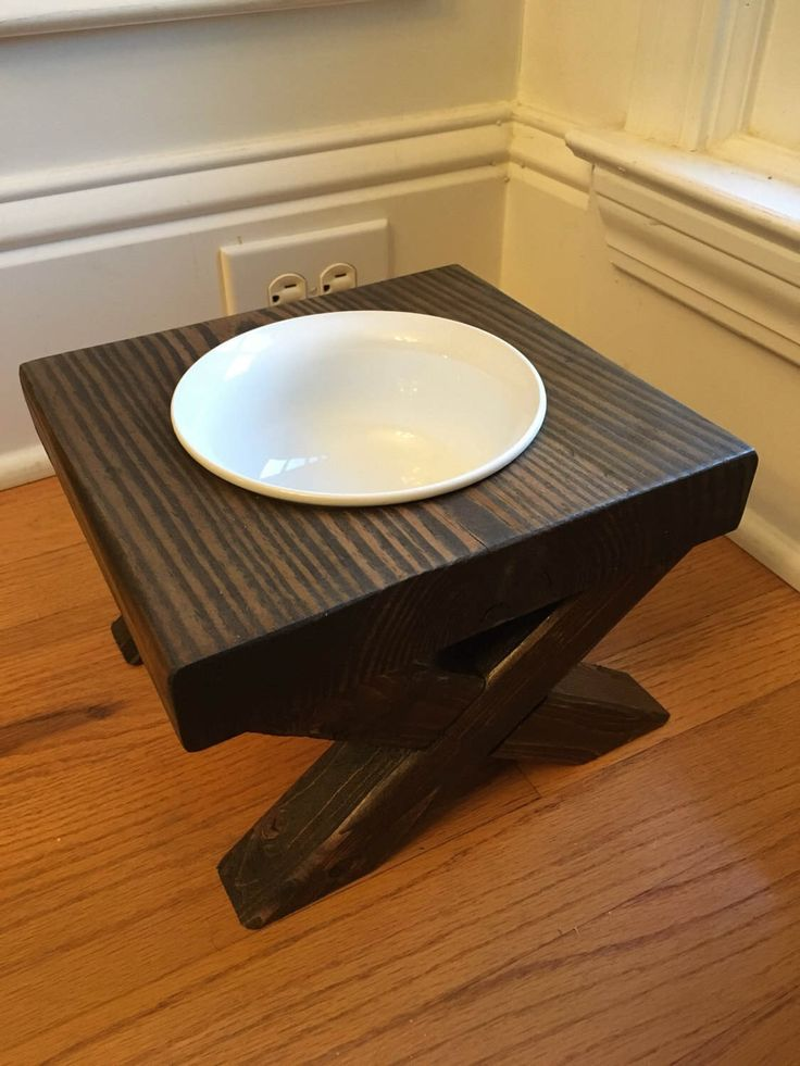 single by bluecharliedesigns with pin made on wooden bowl rustic two bowls custom feeder dog raised elevated etsy