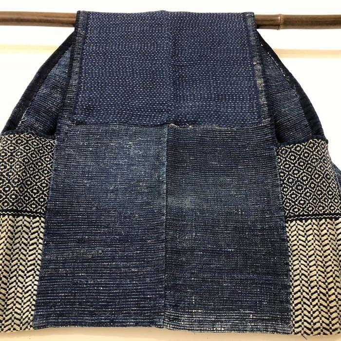 Japanese Noragi Boro Kogin Sashiko Indigo Vest\