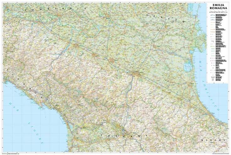 Emilia Romagna Road Map - 1:250.000 scale