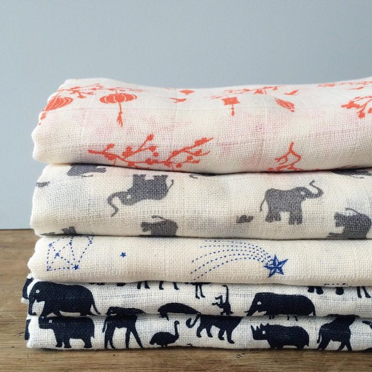Our organic muslin wraps in new season prints! Super soft, breathable and generously sized - perfect for wrapping baby up snug as a bug! For newborns and babies of all ages x