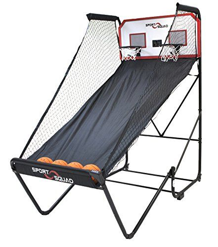 Electronic Basketball Game - Sport Squad Double Overtime Electronic Arcade PRO Basketball. Arcade-style electronic basketball hoop for 1 or 2 players, Includes eight fast-action game modes: