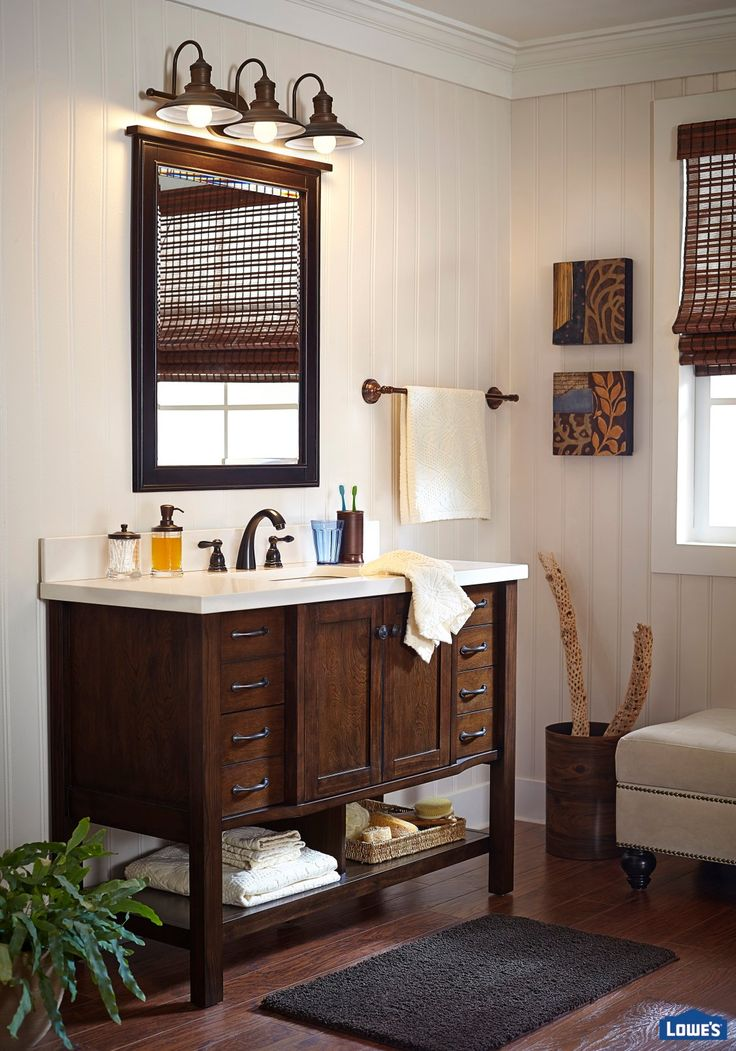 Treat yourself to a bathroom that helps you unwind at the end of the day. Selecting unique decor pieces can help reflect your style. Shop this look now.