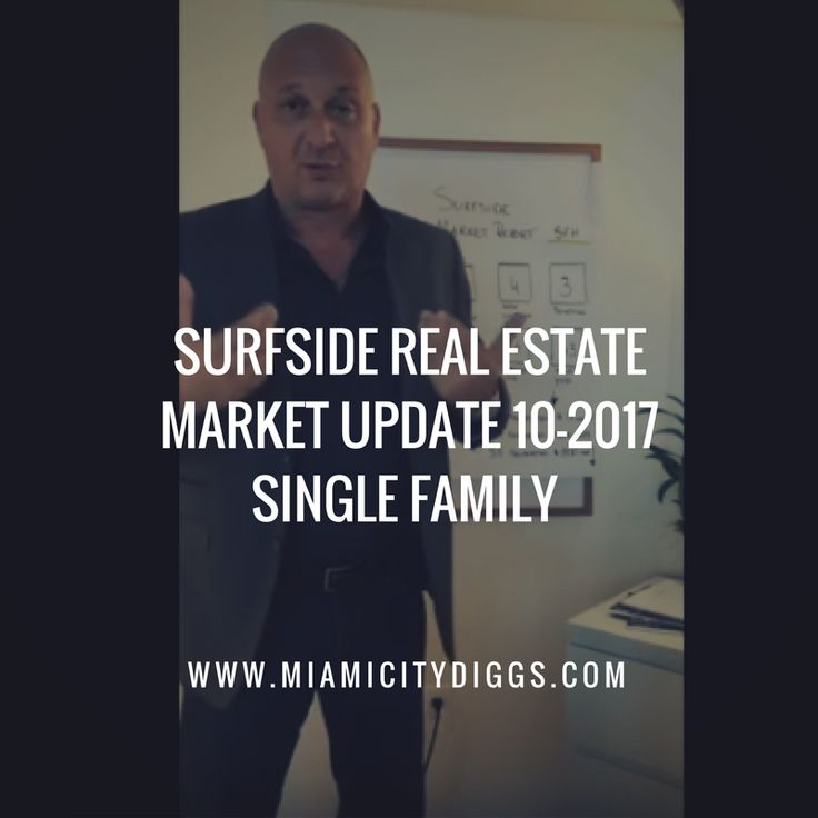 Surfside Florida Real Estate Market Update 10-2017 If you consider the entirezip code of Surfside single-family homes there is 11 months of inventory.