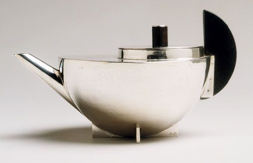 Bauhaus artist Marianne Brandt's tea kettle. a staple of modern design.