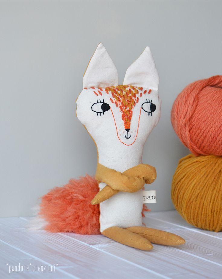 stuffed fox * natural dye * pandoracreazioni