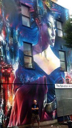Street Art by Dan Kitchener for UPFEST in Bristol #art #arte #mural #streetart