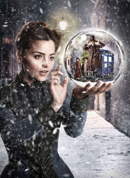 Promo image from Doctor Who: The Snowmen. All I have to say is You go Girl! Oh and someone should have edited this snow better.